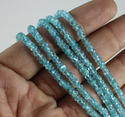Apatite Handmade Faceted Roundel Beads