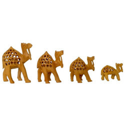 Handicraft Wooden Camel Statue