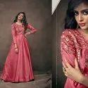 Western Satin Silk Designer Party Wear Gown