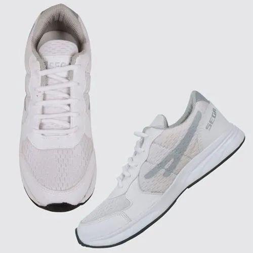 Mens Le Sega White Sports Shoes, Size