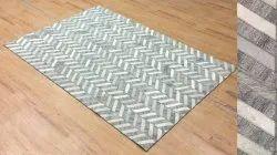 Scenario Overseas Jacquard and Leather Patch Work Carpet