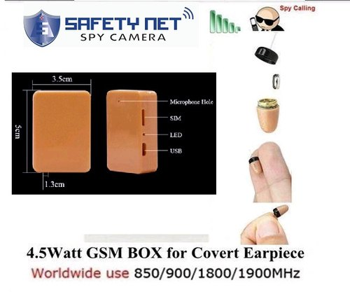 cd5df6c5381 SAFETYNET Spy Earpiece GSM Box Small Invisible Wireless Micro Earphone  Hidden Covert Set