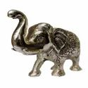 Silver Plated Brass Elephant Statue