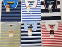 Mens Polo Collar Stripped T Shirt