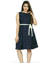 Bollywood insta fashion Multicolor Girl sleeveless party wear frock or skirt for woman and girl
