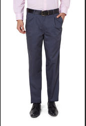 Peter England Greyish Blue Trousers