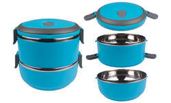Blue 2 Layer Lunch Box