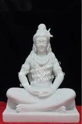 white marble sitting shiva statue