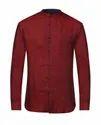 Raymond Dark Maroon Contemporary Fit Shirt