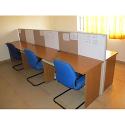 3 Seater Straight Workstation