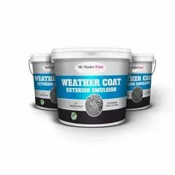 High Gloss Mc Shades Weather Coat Exterior Emulsion Paint, Packaging Type: Bucket