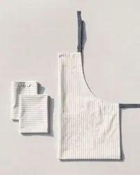Weaved Checked Cotton Kitchen Apron Set