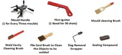 Ace Weld Kit Parts (Mould Handle,Flint Igniter,Mould Cleaning Brush,Slag Removal,Sealing Compound)