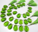 Green Chalcedony Size 17x23mm Pear Shape Hydro Quartz