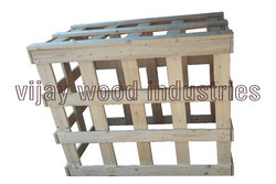 800 Kgs Solid Box Pine Wood Crate for Storing And Packaging