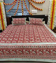 Couple Bedsheet With 2 Pillow Covers