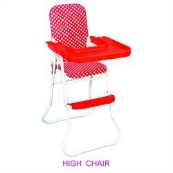 Plastic Red Baby High Chair, Age: 4 to 8 Year