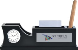Corporate Table Clock Pen Stand
