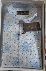 The LEGION Full Sleeves Men Printed Cotton Shirt, Size: M L Xl