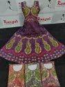Rangoli Silk Multicolor Designer Anarkali Suit, Handwash