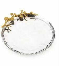 Decorative Stainless Steel Platter