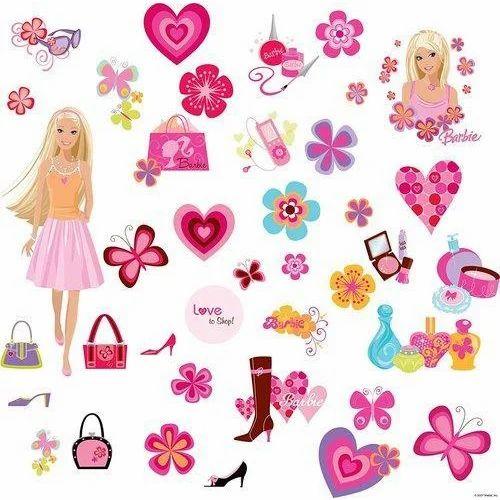 Barbie Deco Peel Cartoon Sticker