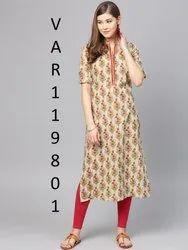 Designer Chanderi Cotton Kurtis