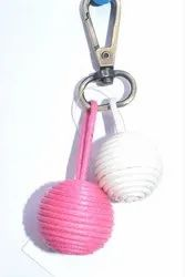 Sophisticated Pom Pom Keyring