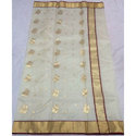 Party Wear Printed Fancy Chanderi Silk Saree, With Blouse Piece