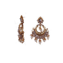 Golden Chandbali Earring