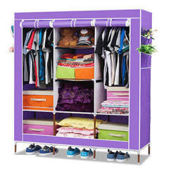 Purple Folding Wardrobe Cupboard