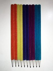 Polymet Black Multi Color Velvet Polymer Pencil, Features: Used For Writing Purposes, Packaging Size: 100