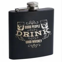 Customized Hip Flask- Black