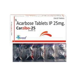 Acarbose Tablets IP, for Clinical, Packaging Size: 10x10