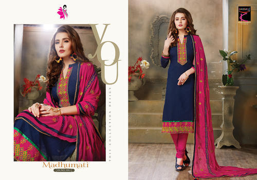 07cf3ecbfe Women Cotton Embroidered Salwar Suits, Rs 775 /piece, Khushika ...
