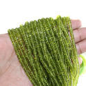 Peridot Tyre Shape Plain Beads