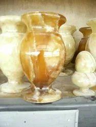 Brown Handmade Marble Flower Pot
