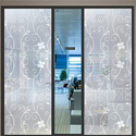 Printed Pvc Decorative Window Glass Film, .25-1 Millimetre