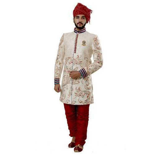 b6efbbb44f 36-44 Embroided Designer Wedding Sherwani, Rs 16500 /piece | ID ...