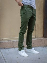 Cotton Flat Trousers MENS FORMAL TROUSER