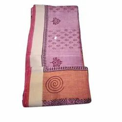 5.5 m (separate blouse piece) Casual Fancy Digital Printed Linen Saree, With Blouse Piece