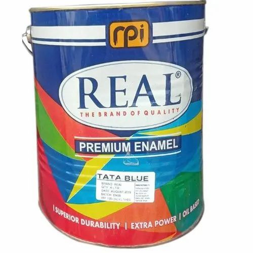 Metal Real Tata Blue Enamel Paint, Packaging Type: Tin Can, Packaging Size: 4 Litre