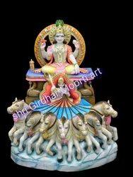 surya bhagvan marble moorti