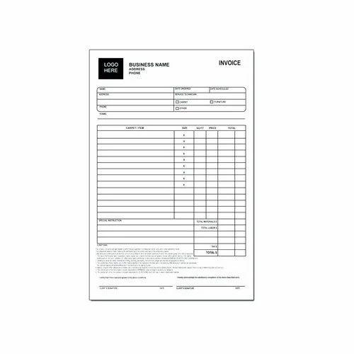 Carbonless Invoice Printing Service In Okhla New Delhi Multi - Carbon invoice printing