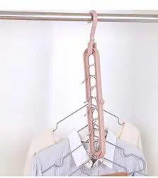 none Plastic Wardrobe Space Saver Folding Hangers, Size: 30cm