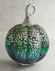 Golden Round Mosaic glass pumpkin, For Decoration