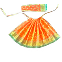 Satin Silk Multicolor Fancy Goddess Dresses