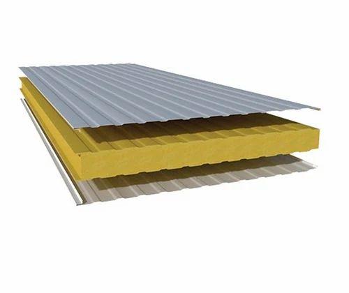 Polyurethane Sandwich Panel, for Construction Sites, | ID: 6725517855
