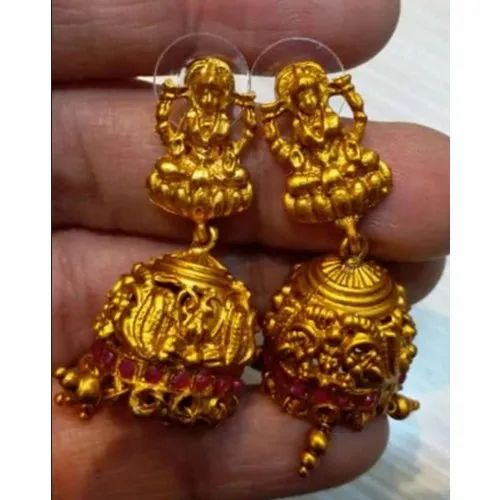 251f2ddeb Gold Plated Antique Jhumka Earrings Set at Rs 20 /pair | Gold Plated ...