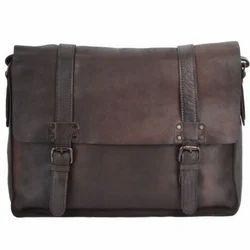 Mens Pristino Brown Vintage Leather Messenger Bag